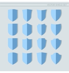 Shield Set flat icons vector image