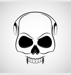 skull is a vampire with fangs vector image