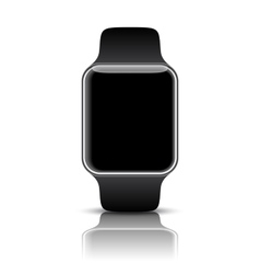 Smart watch isolated with icons on white vector image