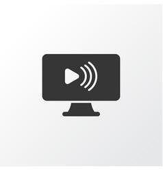 social webinar icon symbol premium quality vector image