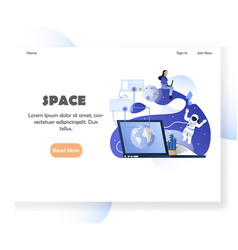 space website landing page design template vector image
