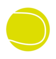 tennis ball isolated icon design vector image