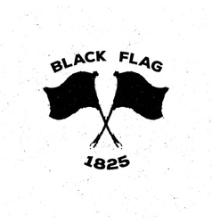 The black isolated logo or poster of a flag in vector image