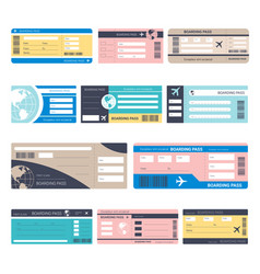 Tickets or boarding passes isolated objects vector