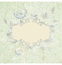 Vintage Floral Rose Background vector image vector image