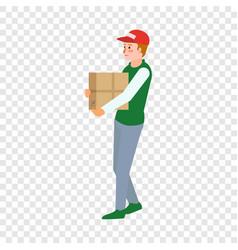 volunteer help box icon flat style vector image