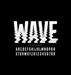 water waves style font vector image