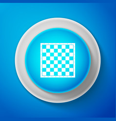 white chess board icon isolated on blue background vector image
