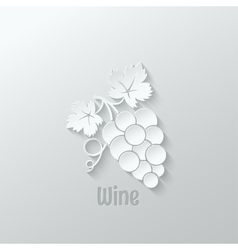 wine grapes background vector image
