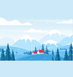 winter landscape flat vector image