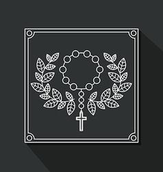Catholic design vector image