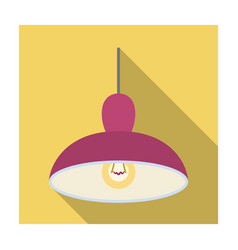 chandelier with light bulb the light in the bar vector image