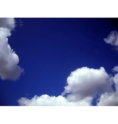Clouds in the sky vector image vector image