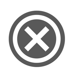 not icon simple vector image