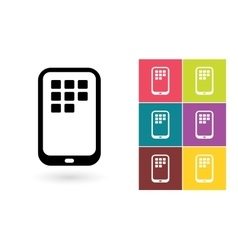 Smartphone icon or mobile symbol vector image