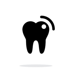 Tooth with caries icon vector image vector image