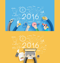 2016 new year business success vector image