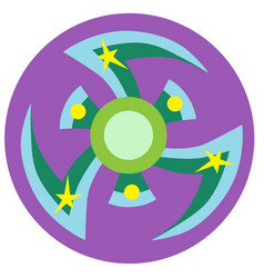 Blue and green spinner vector