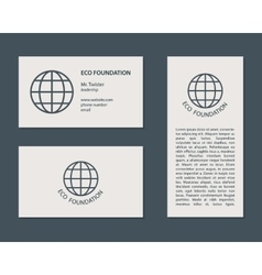 Eco Business Card and Flyer vector image