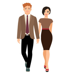 elegant style couple in business clothes vector image vector image