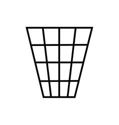 Sign trash bin 2406 vector image