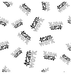 teamwork lettering seamless pattern vector image vector image