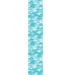 abstract blue waves vertical border seamless vector image vector image