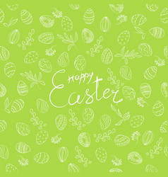 easter floral pattern vector image vector image