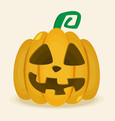 halloween pumpkin icon isolated evil pumkin vector image