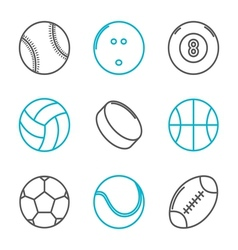 Simple trendy sport icons set vector image