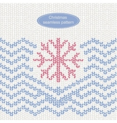 Christmas knitted seamless pattern vector image