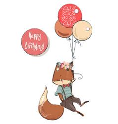 cute cartoon flying fox vector image vector image