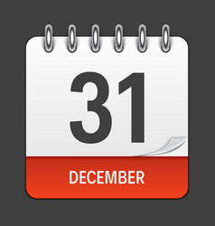december 31 calendar daily icon vector image