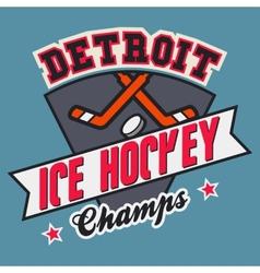Detroit ice hockey champs vector image