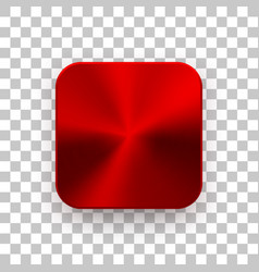red app icon template with metal texture vector image