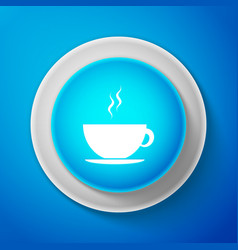 white coffee cup icon tea cup hot drink coffee vector image
