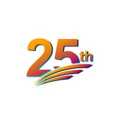 25 th anniversary elegant celebration template vector
