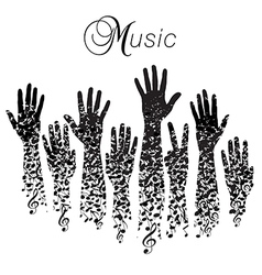 A creative musical background made vector