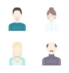 A man with a beard a businesswoman a pigtail vector