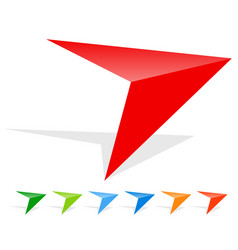 arrow icon - sharp edgy arrowhead in more colors vector image