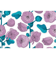 art floral seamless pattern vector image