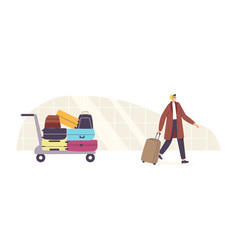 baggage claim plane arrival tourism travel vector image