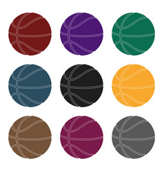 Basketballbasketball single icon in black style vector