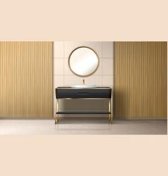 Bathroom boiler water heater washbasin and tub vector