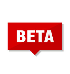 Beta red tag vector