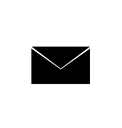black envelope icon vector image