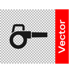 Black leaf garden blower icon isolated on vector