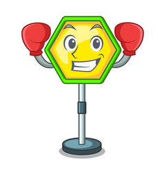 boxing character traffic sign regulatory and vector image