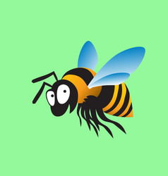 bumblebee grins big cheerful insect vector image