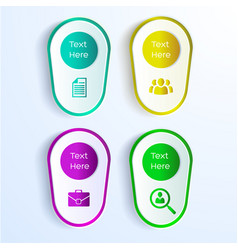 business background with four paper stickers vector image